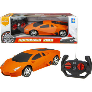 Машинка на радиоуправлении 1Toy Спортавто матовый оранжевый Т13853