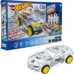 Модель для сборки 1Toy 3D Hot Wheels с фломастерами Т16459