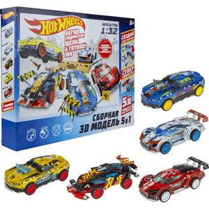 Модель для сборки 1Toy 3D Hot Wheels 5 в 1 Т16458