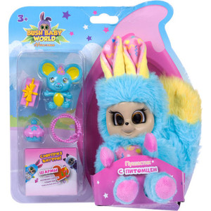 Мягкая игрушка Bush Baby Пушастик Баббл с питомцем и аксессуарами Т16324