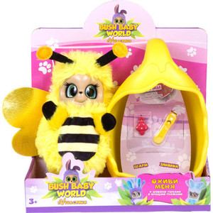 Мягкая игрушка Bush Baby Пушастик Пчелка Бри со спальным коконом заколкой и шармом Т16317