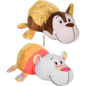 Мягкая игрушка 1Toy Вывернушка Ням-Ням Хаски с ароматом медовой глазури-Полярный мишка фруктового мороженого Т13919