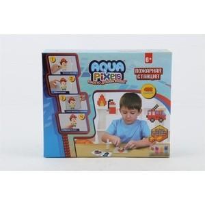 Набор для творчества 1Toy Aqua Pixels Пожарная станция 480 деталей Т13071