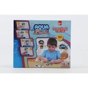 Набор для творчества 1Toy Aqua Pixels Полицейский участок 480 деталей Т13072
