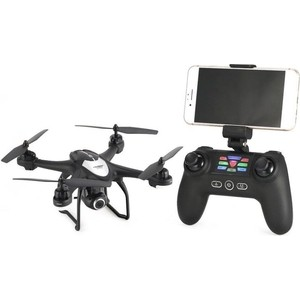 Радиоуправляемый квадрокоптер SJRC S30W 720p черный (GPS, камера 720P)