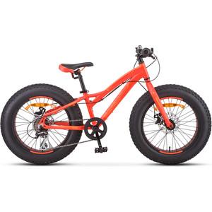 Велосипед Stels Aggressor MD 20 V010 (2019) 11 неоновый красный велосипед stels navigator 410 md 24 21 sp v010 13 неоновый красный