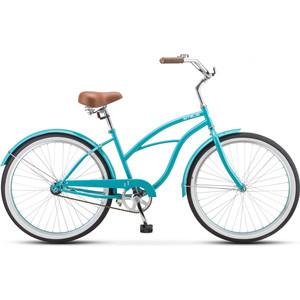 Велосипед Stels Navigator-110 Lady 26 1-sp V010 (2019) 17 морская-волна цена и фото