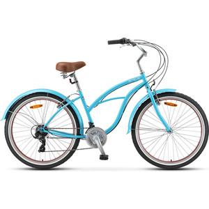 Велосипед Stels Navigator 150 Lady 26 21 sp V010 (2020) 17 синий велосипед stels navigator 310 lady 2015