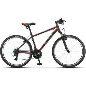 Велосипед Stels Navigator 500 V 26 V030 (2019) 16 черный/красный велосипед stels miss 6000 v 26 v030 2018 рама 15 морская волна оранжевый