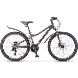Велосипед Stels Navigator-610 D 26 (V010) 16 антрацитовый/оранжевый велосипед stels navigator 650 d 26 v010 2018