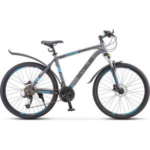 цена на Велосипед Stels Navigator-640 D 26 V010 (2019) 15.5 серый/синий