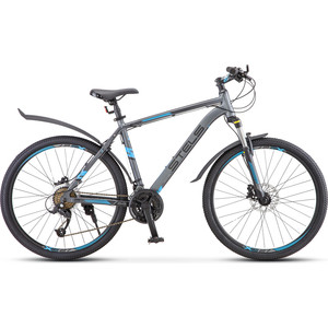 Велосипед Stels Navigator 640 D 26 V010 (2019) 15.5 серый/синий фото