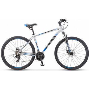 Велосипед Stels Navigator-700 MD 27.5 (F010) 21 серебристый/синий