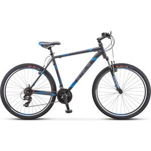 Велосипед Stels Navigator-700 V 27.5 V020 (2019) 21 серый/синий велосипед stels navigator 440 v 13 kubc0049812018 синий
