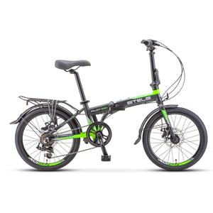 Велосипед Stels Pilot 630 MD 20 V010 (2020) черный/зеленый