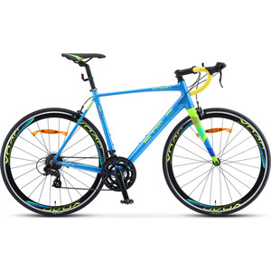 Велосипед Stels XT280 28 V010 (2020) 21.5 синий/желтый велосипед stels xt280 28 v010 2020 23 серый желтый
