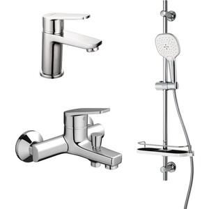 Комплект смесителей Dorff Prime для раковины, ванны, душевой гарнитур (D4085000)