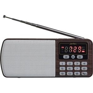 Радиоприемник Perfeo ЕГЕРЬ FM+ (i120-BK) brown фото