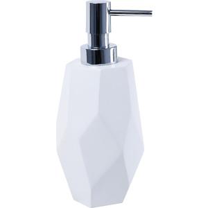 Дозатор для мыла Fixsen Flat белый, хром (FX-290-1)