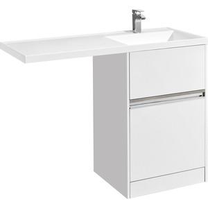Тумба под раковину Акватон Лондри 60 для раковины стиральную машину, белая (1A235901LH010)
