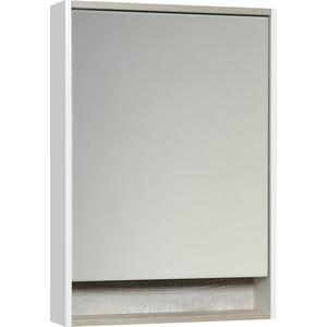 Зеркальный шкаф Акватон Капри 60 с подсветкой, бетон пайн (1A230302KPDA0) зеркальный шкаф bellezza миа 85 с подсветкой l белый
