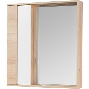Зеркальный шкаф Акватон Бостон 75 с подсветкой, дуб эврика (1A240302BN010)