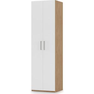 Шкаф комбинированный Моби Гравити 13.20 гикори рокфорд натуральный/белый премиум фото