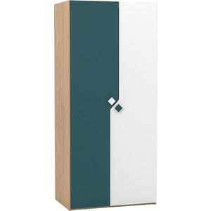 Шкаф для одежды Моби Джуниор 13.122 гикори рокфорд натуральный/бензин/белый премиум