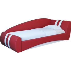 Кровать интерьерная Нижегородмебель и К Гольф 180 красный/белый 80х180 подъемный ортопед левая