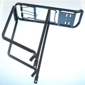 Багажник для велосипеда TRANZX 26 CD-17, алюминий, профильные трубы, с прижимом, черный