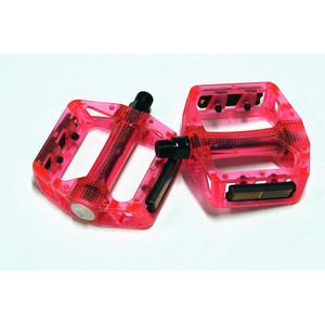 Педали FEIMIN FP-801red.110*100 мм, BMX, база пластик, стальная ось.327гр, красные, подшипник