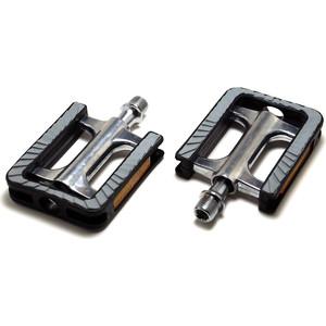 Педали FEIMIN FP-930.104*73 мм, база алюминий, стальная ось, комфорт.311гр, серебр/черные