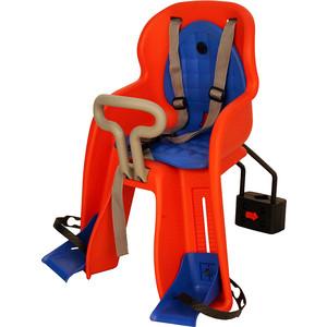 цена на Детское велосипедное кресло GHBIKE GH-516 RED, быстросъемное, крепеж на подседельную трубу спереди, красное