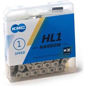 Цепь для велосипеда KMC HL1-N 1/2x3/32x112L FOR 1-SPD, Half Link, односкоростная, бмх, фристайл, на блистере