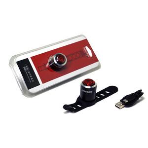 Фонарь велосипедный GACIRON задний W06 5lm.1 диод, автомат, Li- аккум, USB, угол 220 град.черный.29гр
