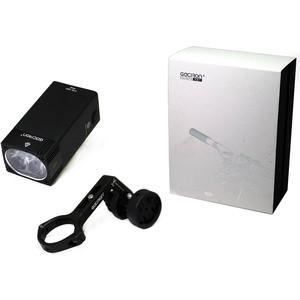 Фонарь велосипедный GACIRON передний V7D-1600 1600lm. 1диод.4режима, Li- аккум, USB, крепление H10, алюм.черный