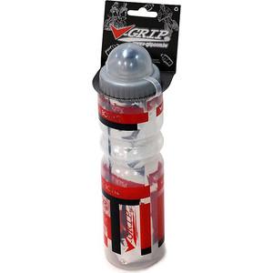 Фляга велосипедная V-GRIP V-700AA, 500мл, термос, пластик, с клапаном, защ.колпачком, красный/прозрачный