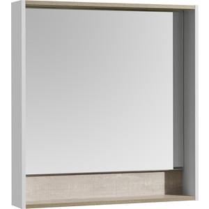 Зеркало Акватон Капри 80 с подсветкой, бетон пайн (1A230402KPDA0) цена 2017