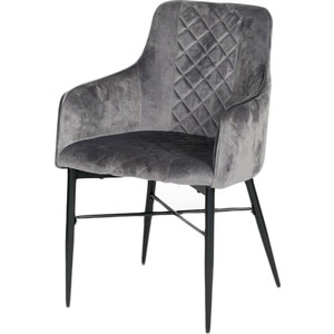 Кресло TetChair Forza (mod 5175-2) металл/вельвет серый/черный