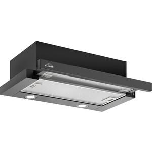 Встраиваемая вытяжка Elikor Интегра Glass 60П-400-В2Л черный/стекло черное цена и фото