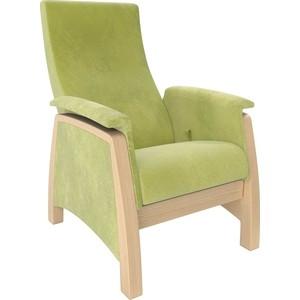 Кресло-глайдер Мебель Импэкс Balance 1 натуральное дерево/ Verona apple green
