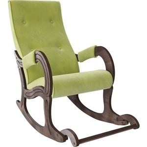 Кресло-качалка Мебель Импэкс Модель 707 орех антик, ткань Verona apple green фото