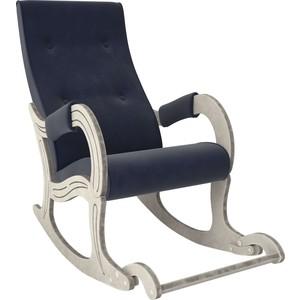 Кресло-качалка Мебель Импэкс Модель 707 дуб шампань/патина, ткань Verona denim blue