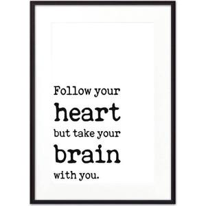 Постер в рамке Дом Корлеоне Follow your heart... 21x30 см