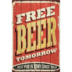 Картина на дереве Дом Корлеоне Free Beer Tomorrow 30x40 см