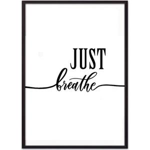 Постер в рамке Дом Корлеоне Just breathe 40x60 см фото