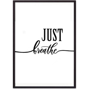 Постер в рамке Дом Корлеоне Just breathe 50x70 см фото