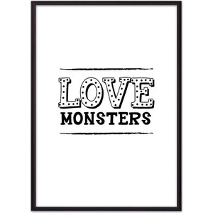 Постер в рамке Дом Корлеоне Love monsters 21x30 см