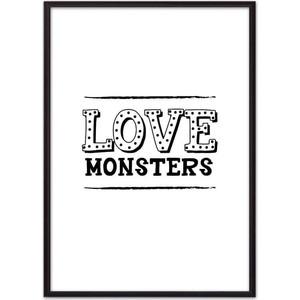 Постер в рамке Дом Корлеоне Love monsters 50x70 см