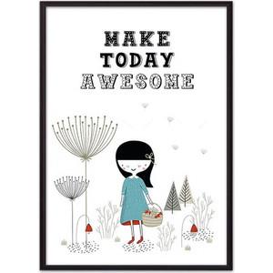Постер в рамке Дом Корлеоне Make today awesome 40x60 см